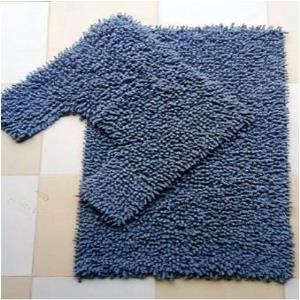 Chenille  Shaggy bathmat set. Stock
