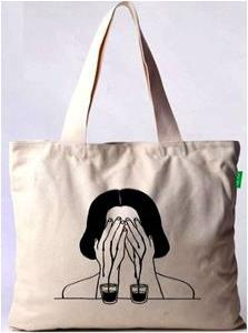 Cotton Shopping bag stock