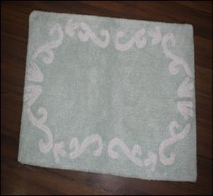 Cotton Jacquard Design Bathmat Stock