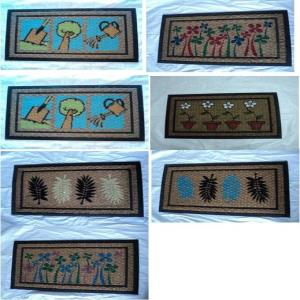 Printed coir with rubber mat