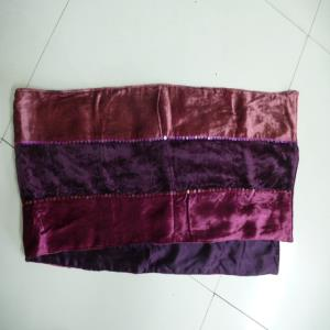 velvet patchwork embroidered scarf