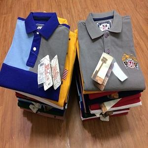 Branded Men's T-Shirts Stock Lot at Low Cost
