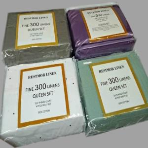 Cotton Satin Sheet Set Stock