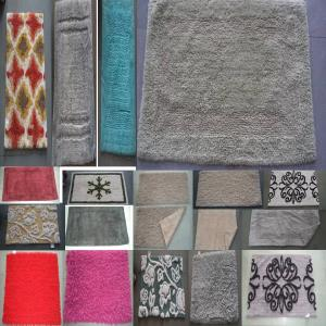 Assorted Bathmats in UV clear yarn in Designer
