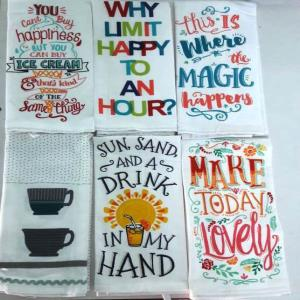 Crush Fabric Printed Kitchen Towels