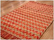 Cotton & Jute Chevron Rug