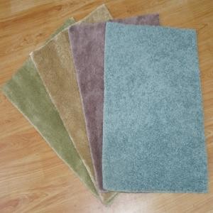 P.P SHAGGY Bathmats with latex backing