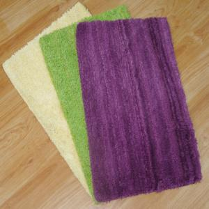 Tie & Die Micro Shaggy Bathmats with latex backing