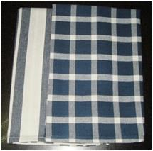 Azo free Tea towel Set (Checks & Stripes)