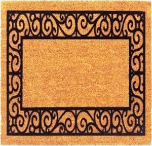 P V C Coir Natural Flocked