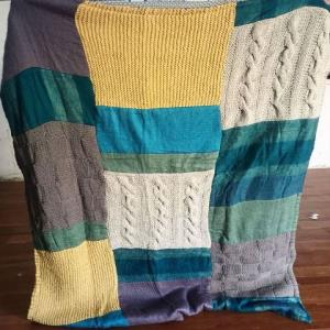 Cozy Patch Work Throw Blanket