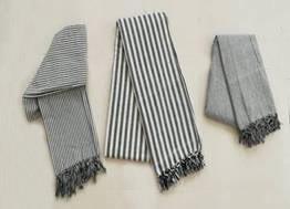 Stripe Design Bed Cover