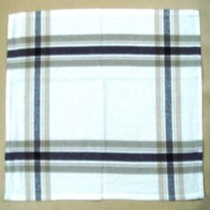 Checked Striped Towel Set of 3 with Belly Band