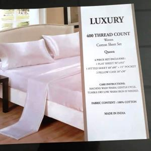 400 Thread Count Satin Sheet Set
