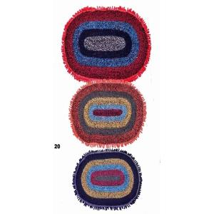 Fringed Oval Shaggy Bathmats