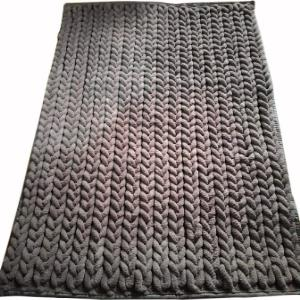 Chenille Micro Loop braided Rug with Rubber backing