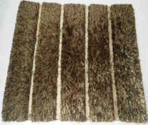 Handloom Polyester shaggy Rugs with Fancy Artwork
