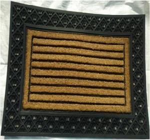 Coir Brush Rubber  Grill mat