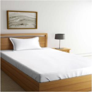 White Bed-sheet & Pillow Set