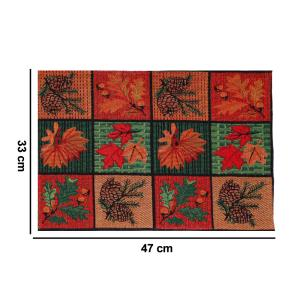 MyMadison Home Tropical Autumn Pine Leaves Placemats