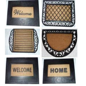 Rubber Moulded Panama coir Grill Iron mat stock.