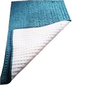 Chenille Micro Loop Hand  braided Rug with Rubber backing
