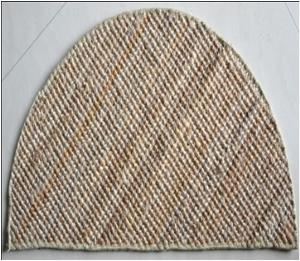 Jute Boucle Half Round Rug with Alround Serged Finish