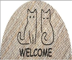 Printed Jute Boucle Half Round Rug with Alround Serged Finish