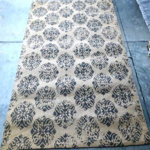 Printed Jute Rugs With Carpet Backing