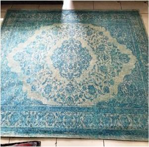 Orient Design Tapestry Chenille Carpet with Canvas backing.