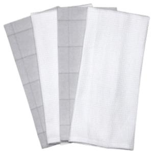 Set of 4 Kitchen Towel- Waffle + Dobbie