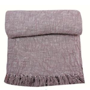 Cotton Throw Blanket Stone Washed 50x60 inch