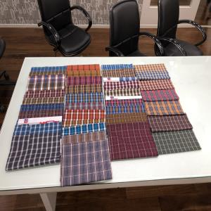 100% COTTON CHECKS PRINT FOR MENWEAR AND KIDSWEAR