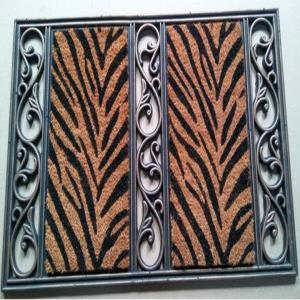COIR BRUSH RUBBER GRILL MAT ASST DESIGNS AND Black color