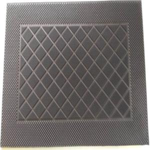 RUBBER PIN MAT SINGLE DESIGN COLOR Black
