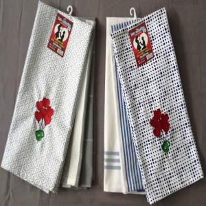 Embroiderd Kitchen Towel Set of 3  - Love range
