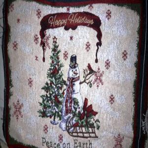 Happy Holidays Cotton Tapestry Placemat- Set of 4