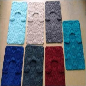 Three  Piece Micro bathmat with Rubber backing