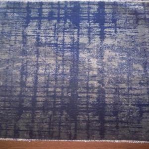 100% POLYESTER JACQUARD VELVET_DK BLUE + GREY ORIGINAL TEXTURE
