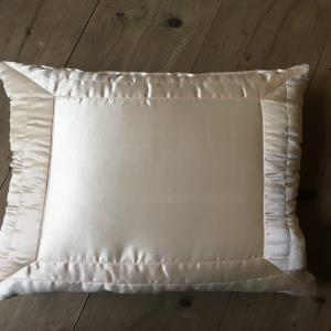 Poly satin quilted cushion cover