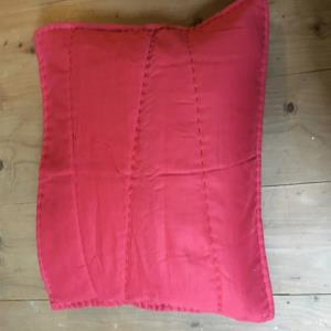 voile hand quilted cushion covers