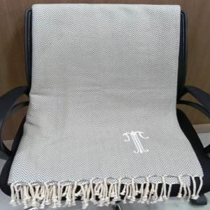 Embroidered Woven Cheveron Throw