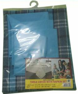 Table Cover with Napkin Set -One table cover +4 napkin set.