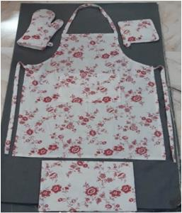 Coordinated 4 Pc Kitchen Linen Set-APRON,