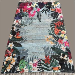 Digital Print Cotton Chindi Rug