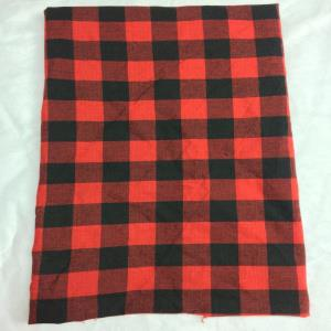 COTTON YARN DYED RED AND BLACK CHECKS FABRIC - 54
