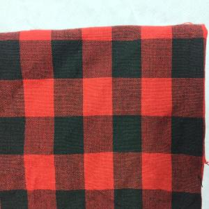 COTTON YARN DYED RED AND BLACK CHECKS FABRIC - 54""