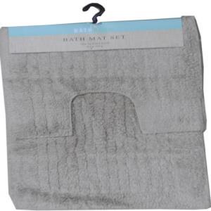 Anti Slip Cotton Bathmat Set with non Skid Coating