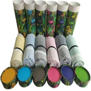 Cotton Beach Towels ( Foutah) in Water Resistant Paper Tubes