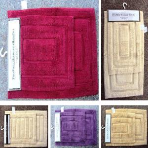 UV clear 2 PC bathmat Set stock